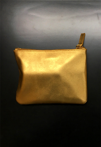 LEATHER POUCH (GOLD)