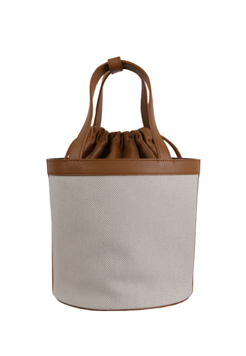 CYLINDER CANVAS BAG [BROWN S]