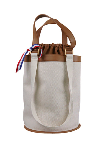 CYLINDER CANVAS BAG [BROWN L]